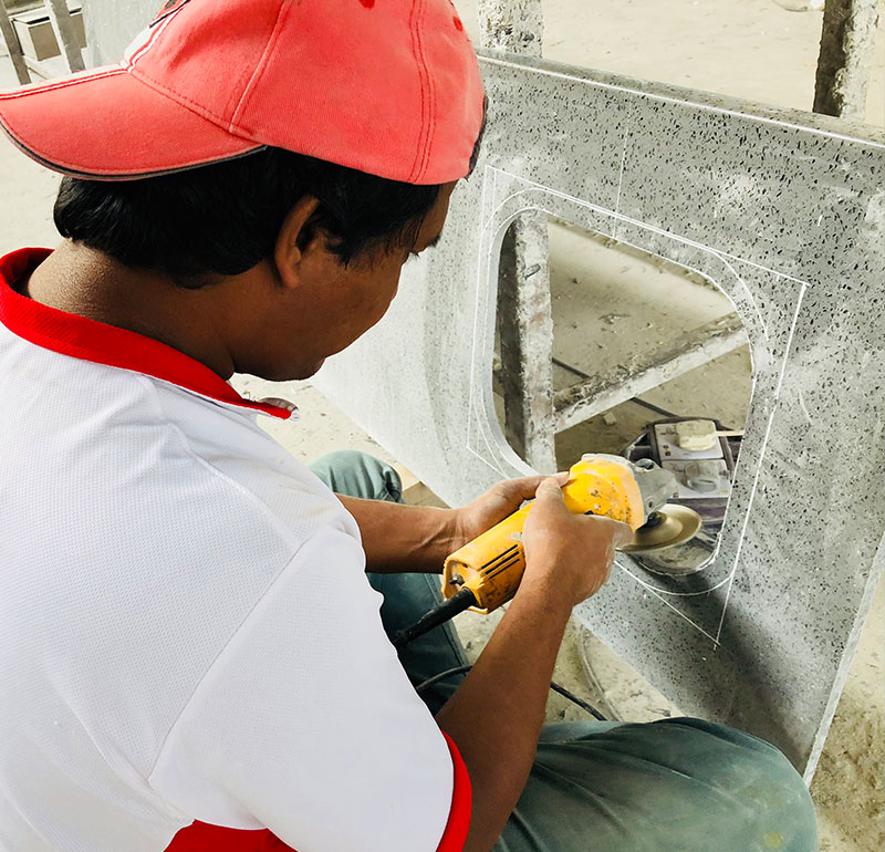 Sunshine Marble Sdn Bhd - Malaysia Marble & Granite Supplier - Hole Polishing